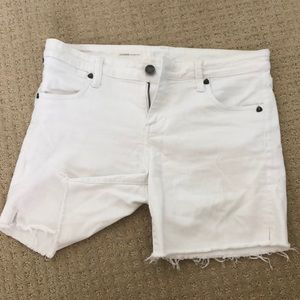 White Kit From the Kloth Jean shorts